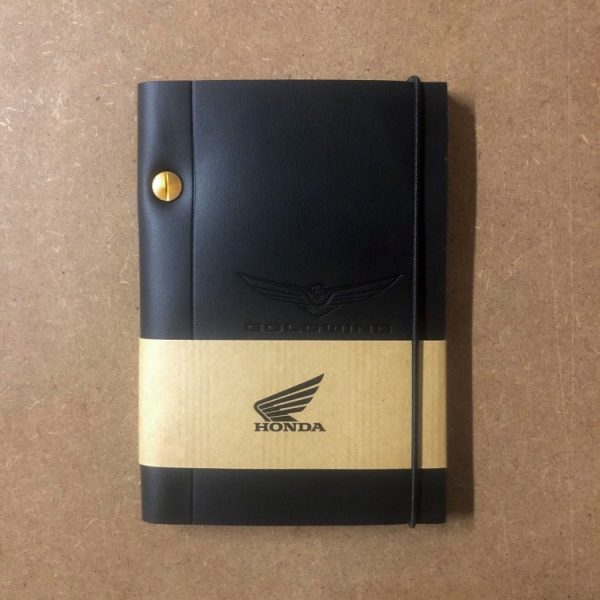 Carnet cuir A6 Gold Wing Robusto - Motard Society