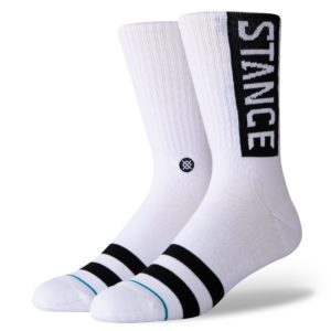 Chaussettes Stance noires et blanches Motard Society